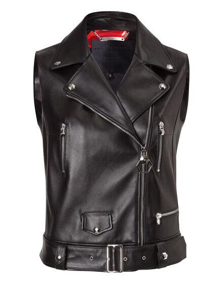 Leather short Vest sleeveless
