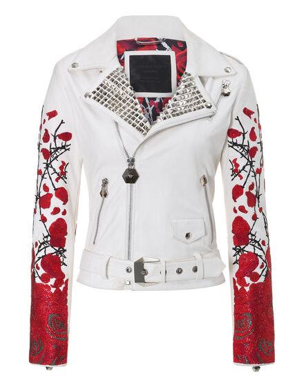 leather jacket rosy
