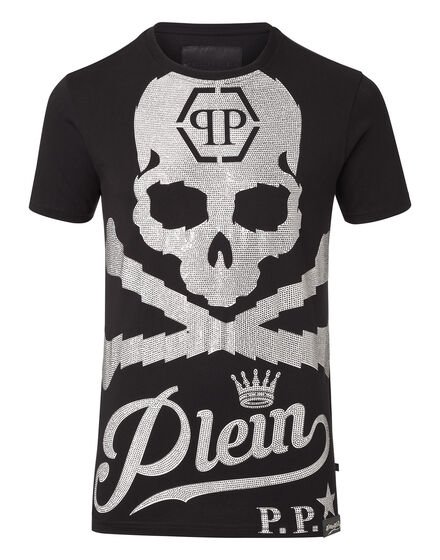 T-shirt Round Neck SS Black and white