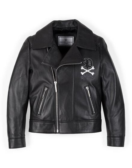Leather Biker Peach