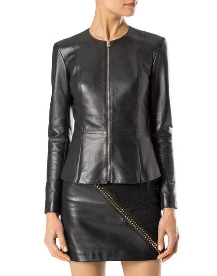 "leather jacket ""paris bound"""