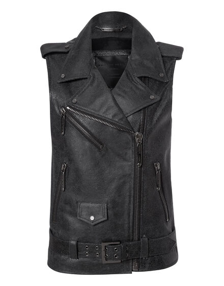 leather vest going crazy