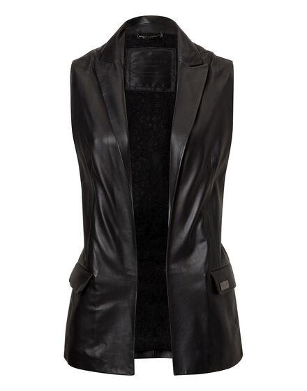 leather vest tribal