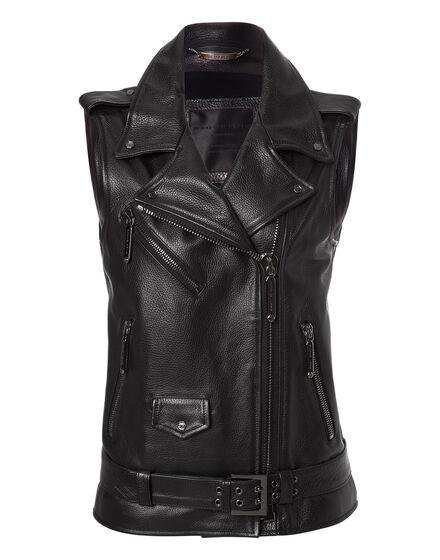 leather vest jadore plein
