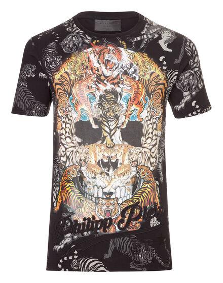 T-shirt Round Neck SS Tiger skull