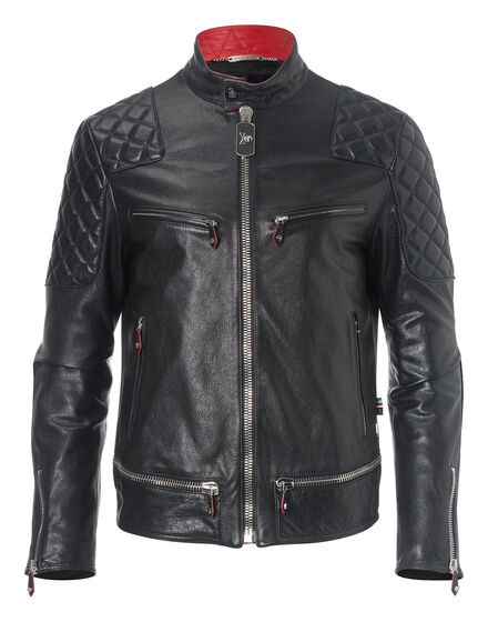 leather jacket have fun