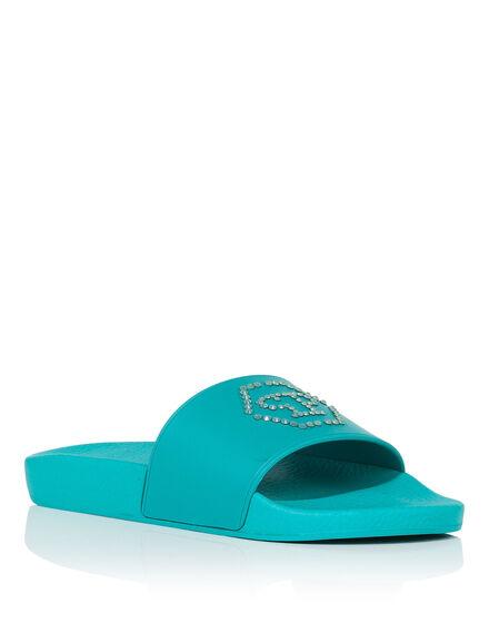 Flat gummy sandals Croisette
