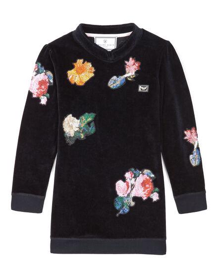 """jersey dress """"rose garden"""""""