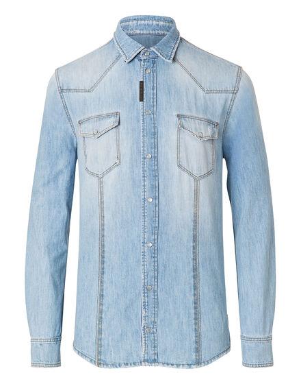 Denim Shirt Ls So wet