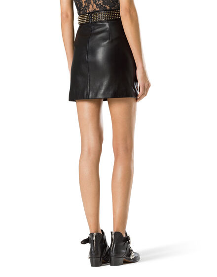 "leather skirt ""let it be the night"""