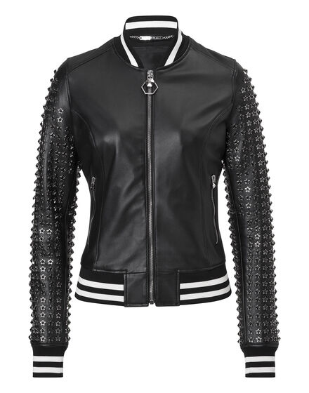 Leather bomber 25