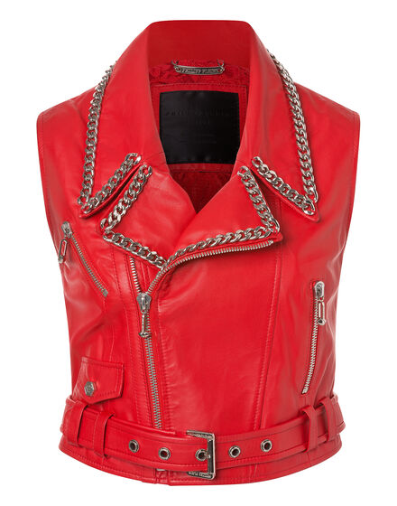 leather vest elle