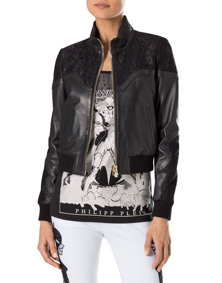 """leather bomber """"unchained"""""""