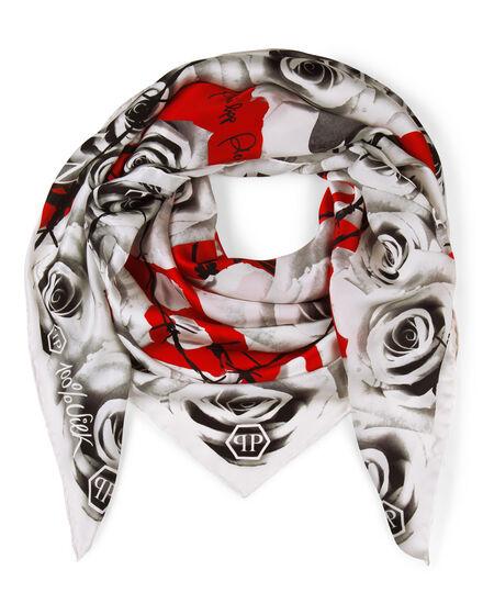 scarf satin romance