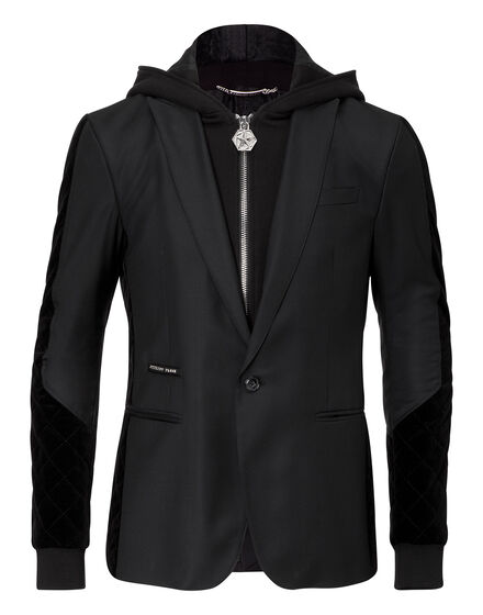 hooded blazer festivity