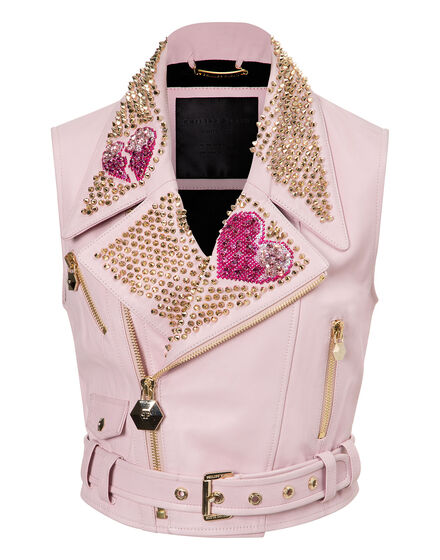 leather vests camy