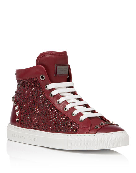 high sneakers sparkling star