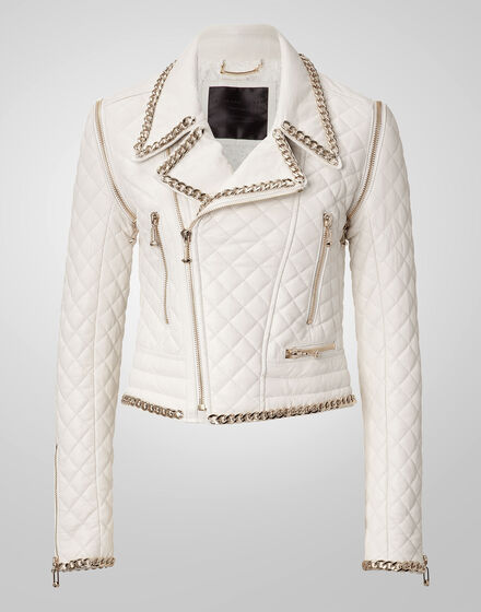 leather jacket diagonal