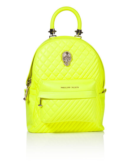 small backpack neon turtle