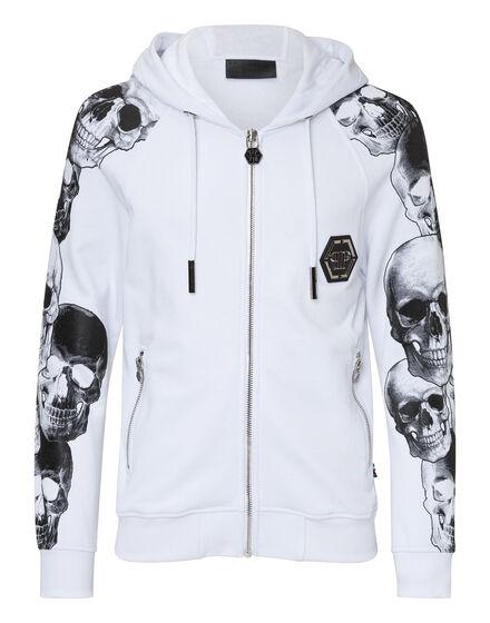 Hoodie Sweatjacket Gray