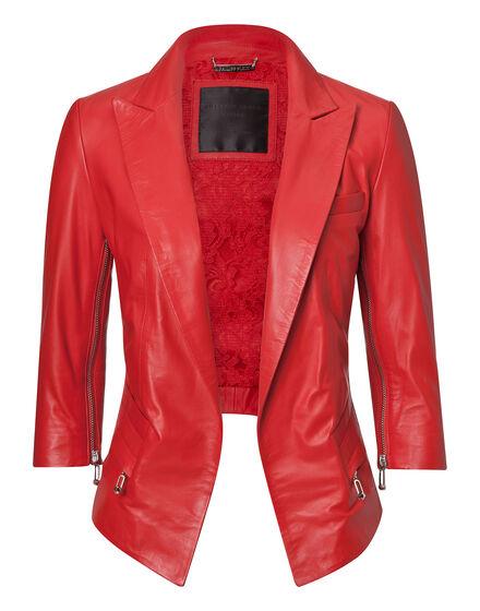 leather jacket cami