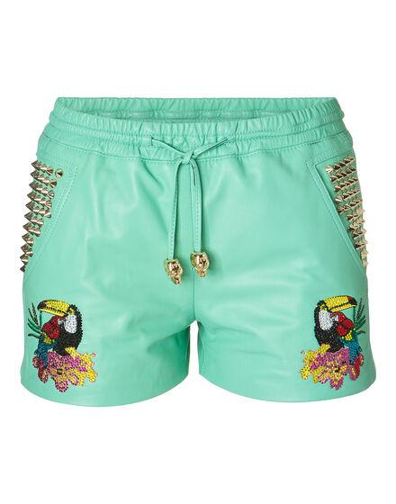 leather shorts caribbean