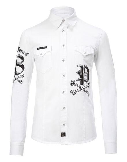 Denim Shirt Ls Cerise
