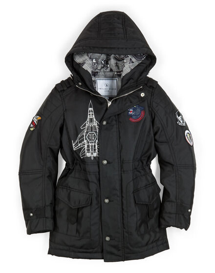 "long parka ""plein aviation"""