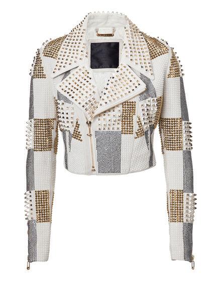 leather jacket luciana