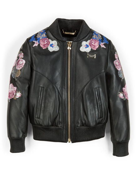 "leather jacket ""tiana"""
