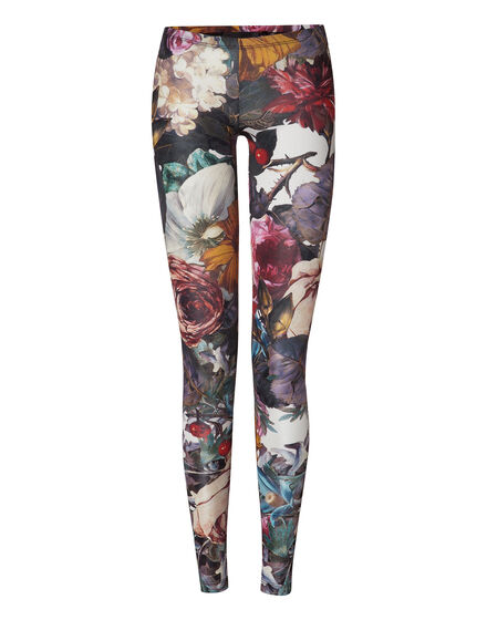 leggings red blossom