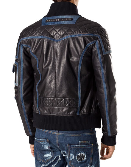 "leather jacket ""military"""