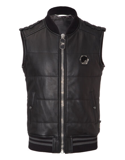leather vest elk