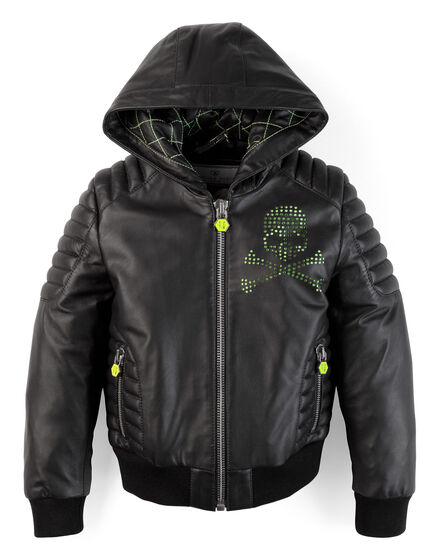 leather jacket hip