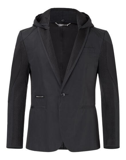 "hooded blazer ""body"""
