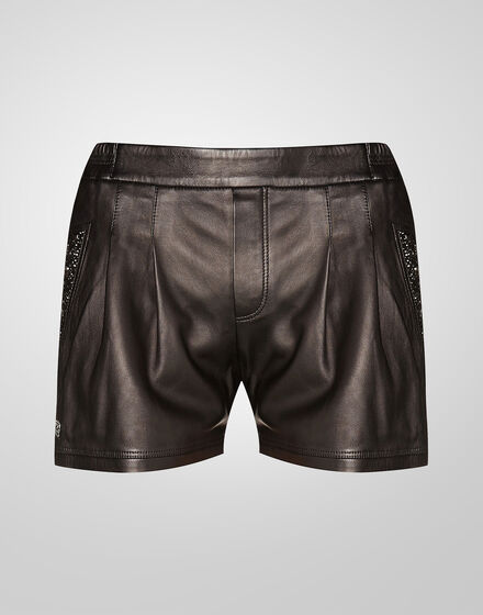 leather shorts clarity