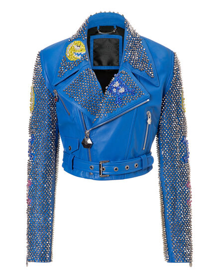 leather jacket rose