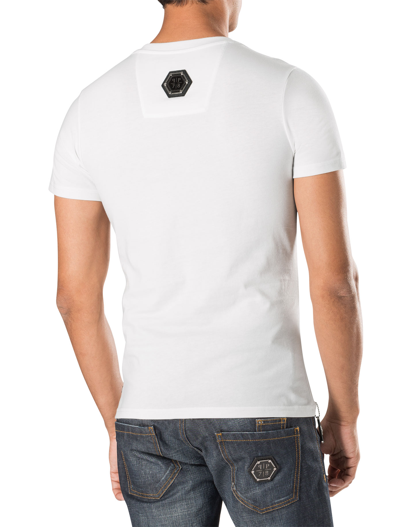 T shirt v neck money maker philipp plein outlet for How to make money selling custom t shirts