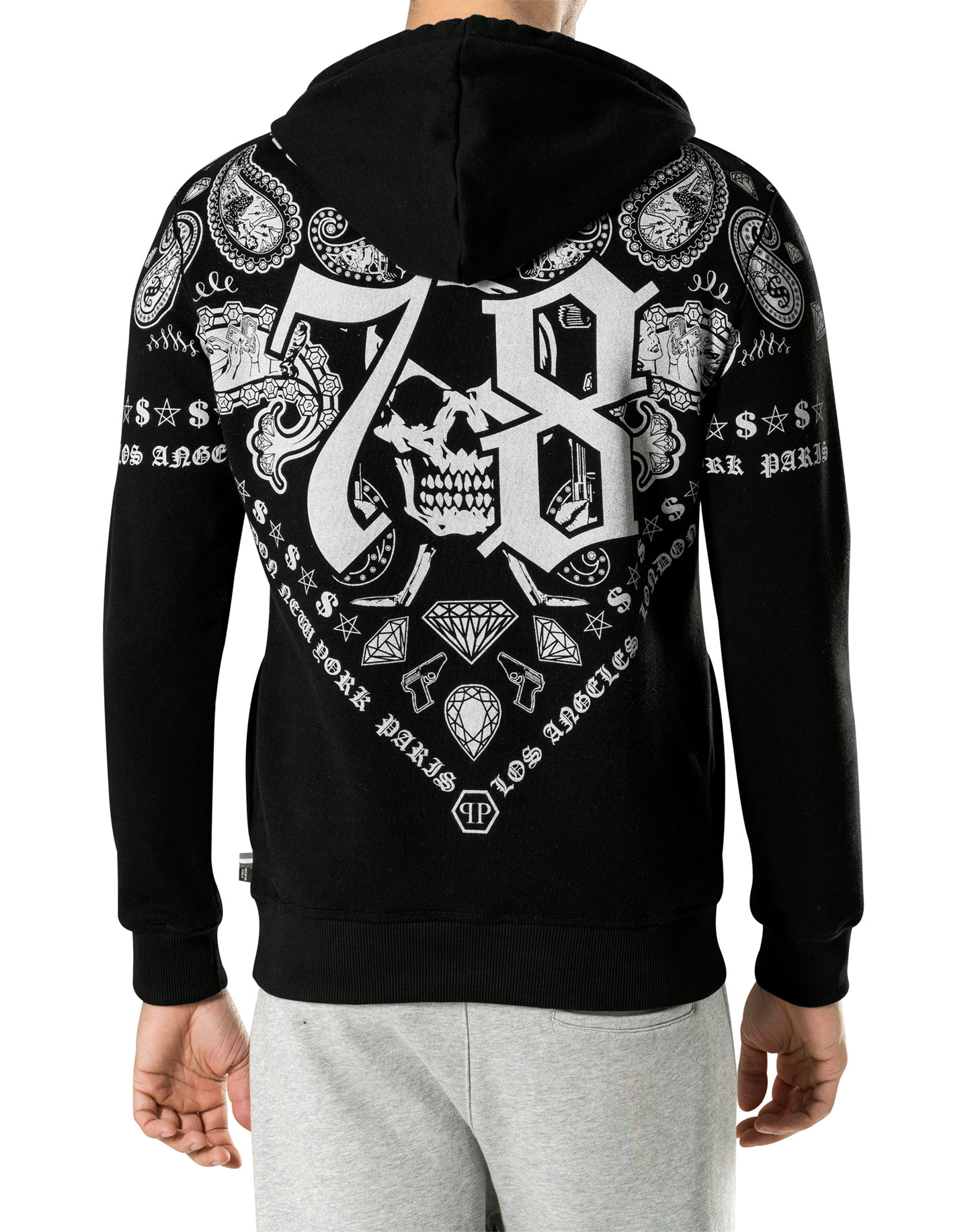 sweat hoodie duck key philipp plein outlet. Black Bedroom Furniture Sets. Home Design Ideas