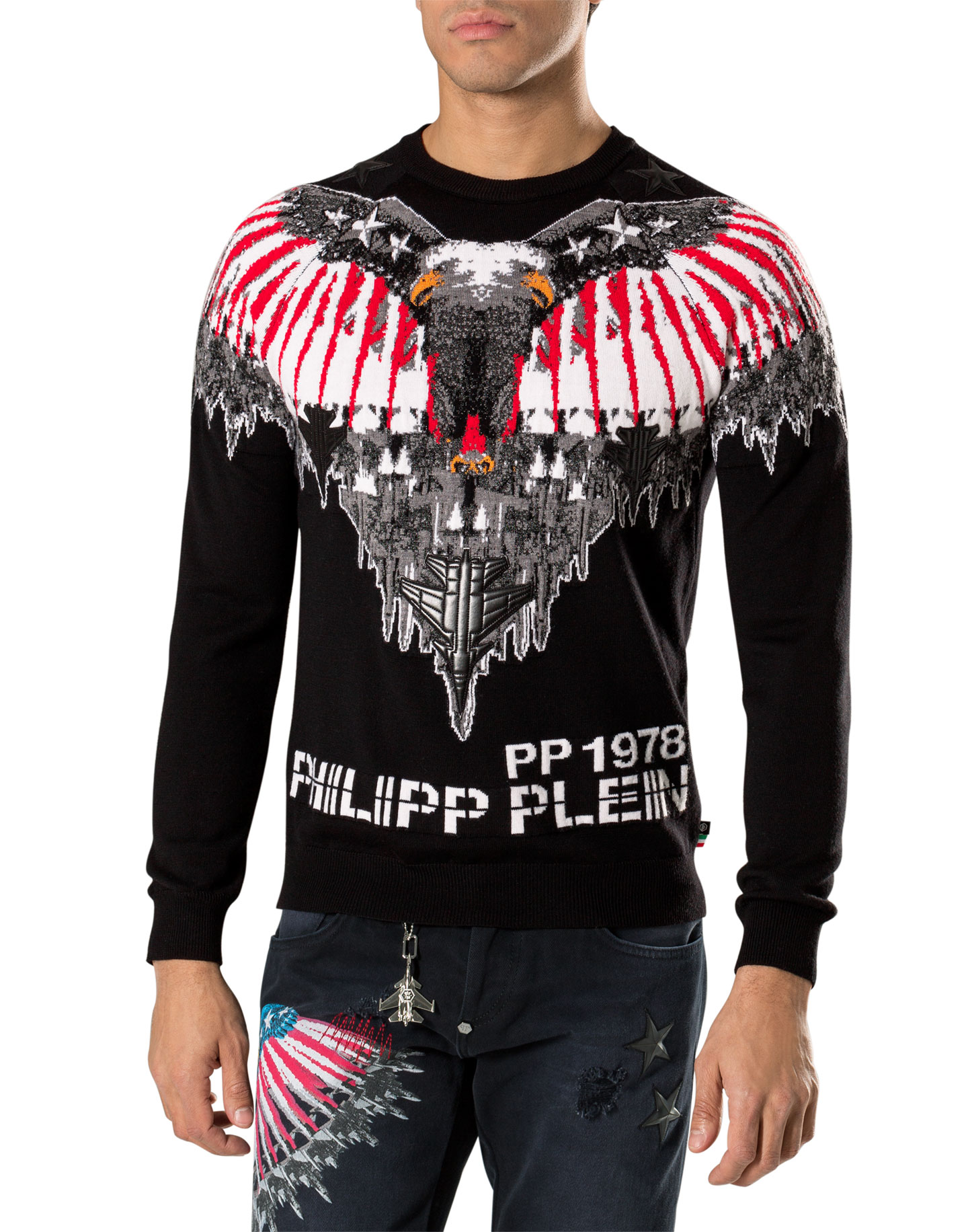 pullover fussels philipp plein outlet. Black Bedroom Furniture Sets. Home Design Ideas