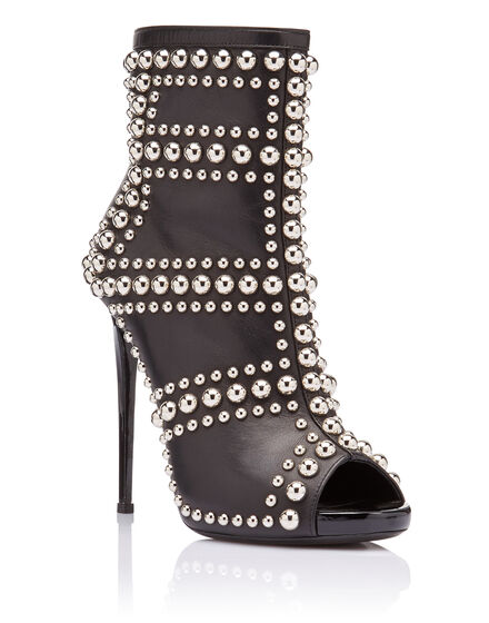 bootie high heels Rounded Studs