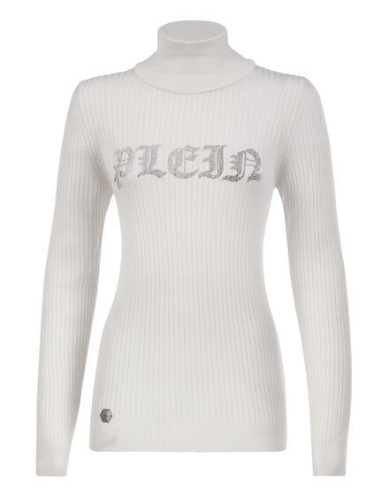 Pullover Polo-Neck LS Crystal Plein