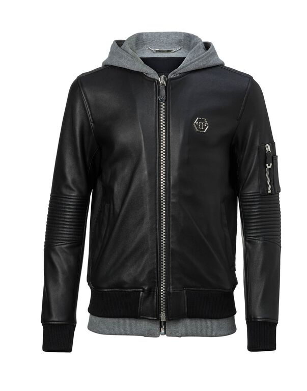"""Leather Bomber """"Titouan"""""""
