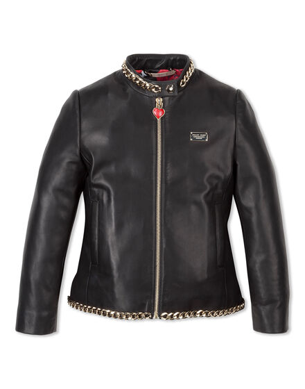 Leather Jacket Paillettes