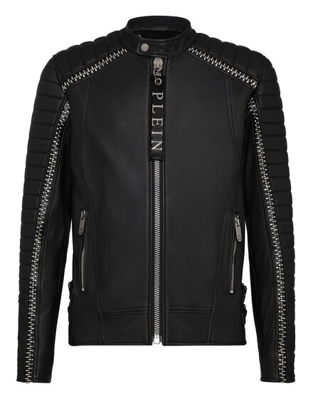 Leather Moto Jacket Timber