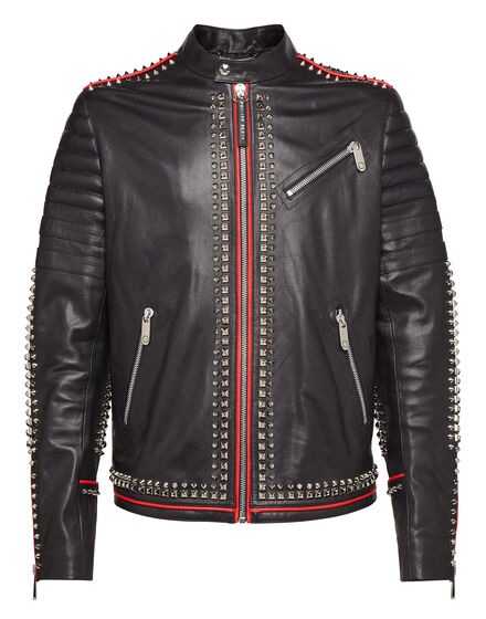 Leather Moto Jacket The ghouls