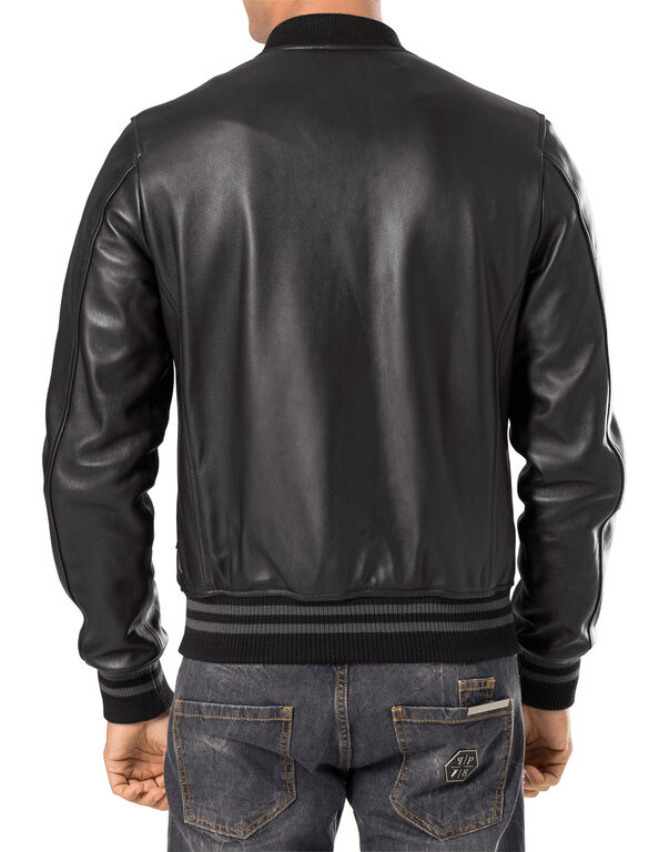"leather jacket ""in the club"""