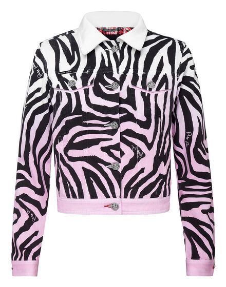 Denim Jacket Zebra