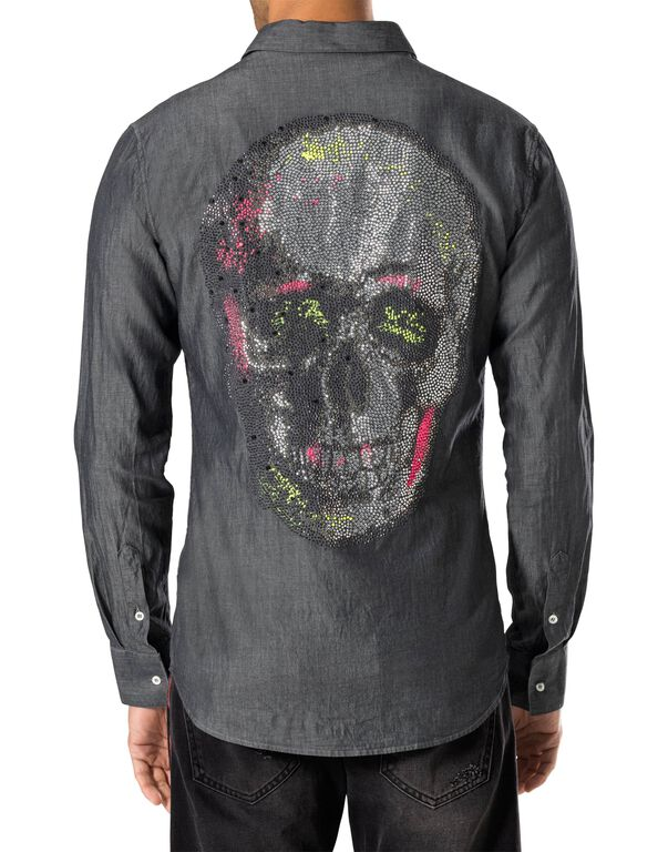 "Shirt Diamond Cut LS ""Fluo skull"""
