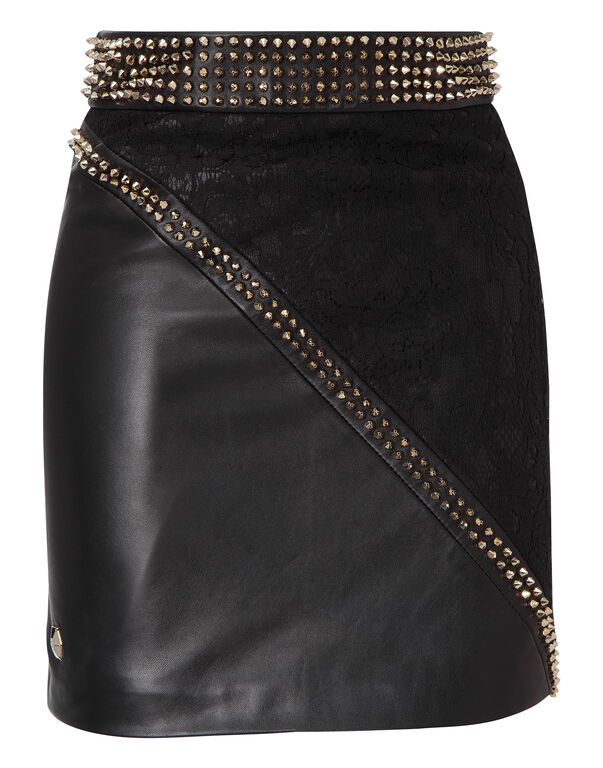 """leather skirt """"let it be the night"""""""